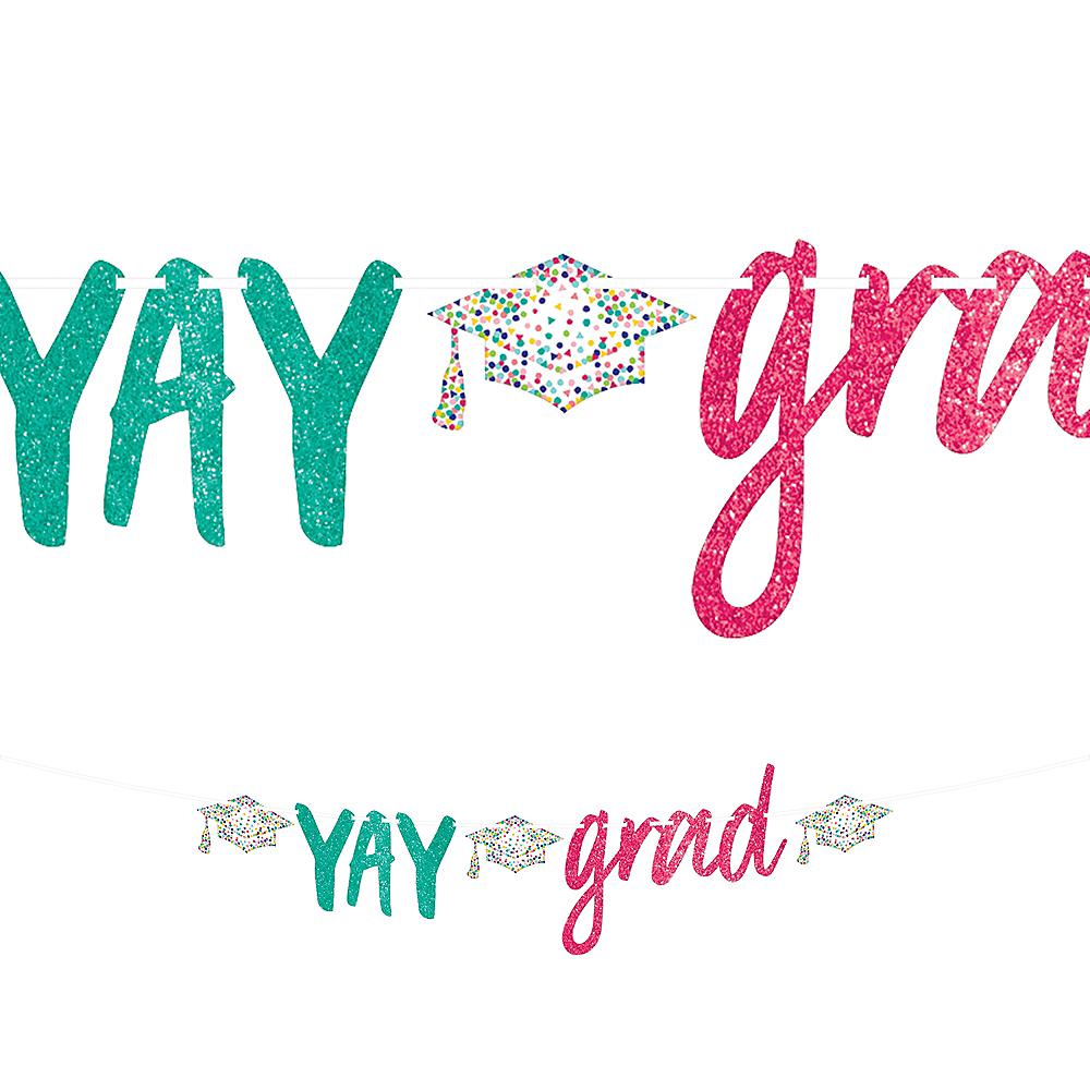 Glitter Yay Grad Letter Banner Image #1
