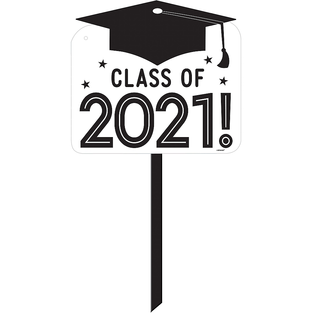 White Class of 2019 Graduation Yard Sign Image #1