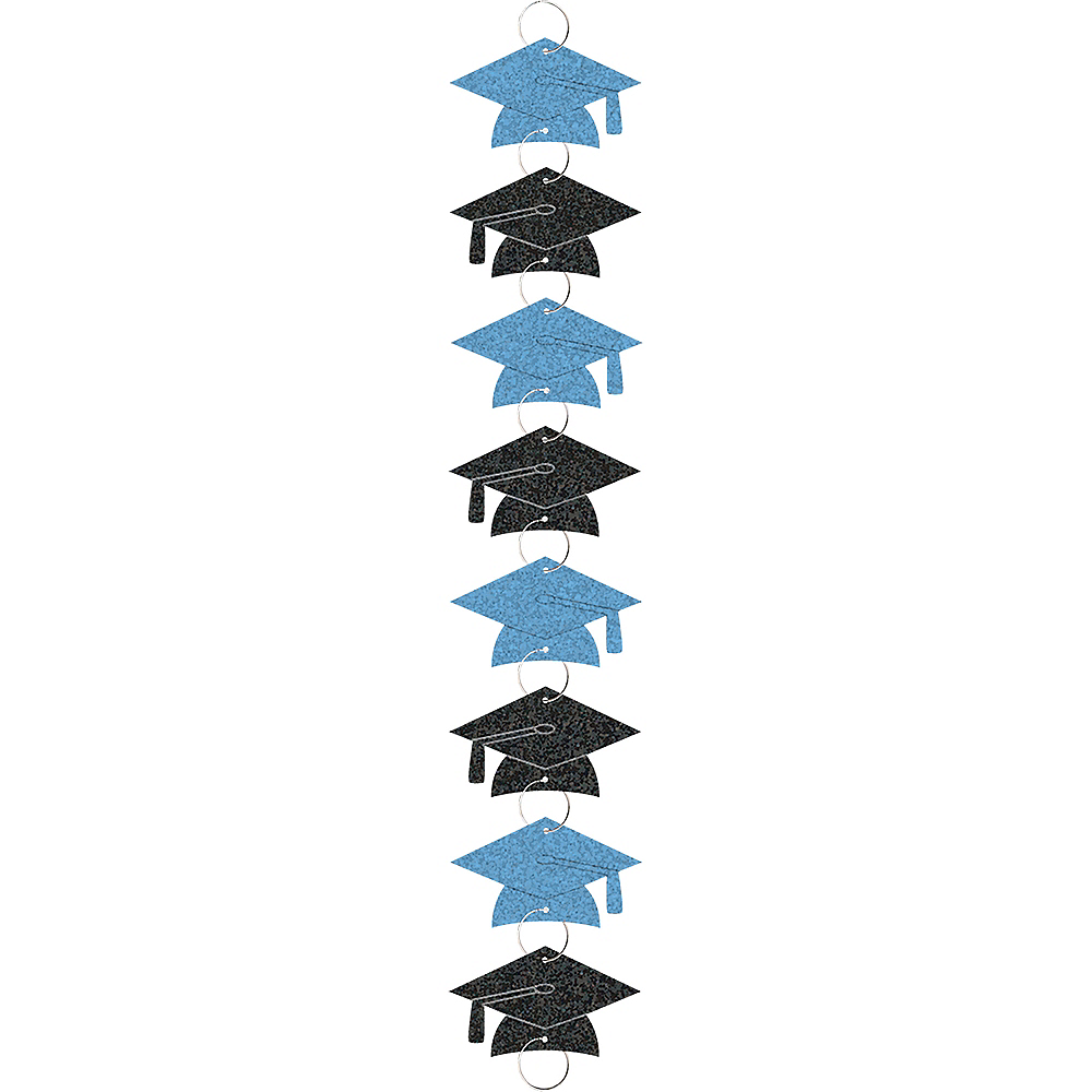 Light Blue Graduation Cap Ring Garland Image #1