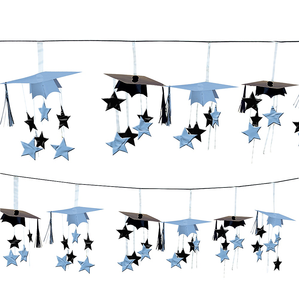 Powder Blue 3D Grad Cap Graduation Garland Image #1