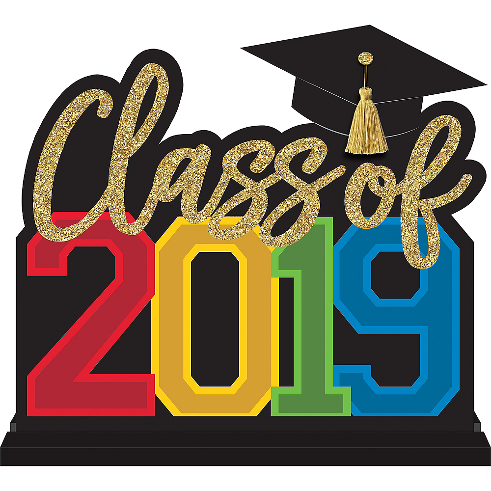 Multicolor Class of 2019 Table Sign Image #1