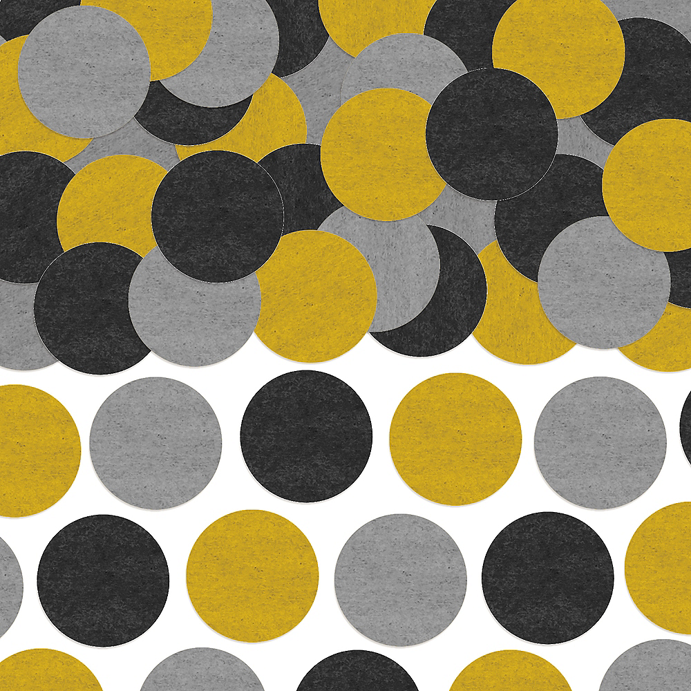 Nav Item for Black, Gold & Silver Dots Tissue Paper Confetti Image #1