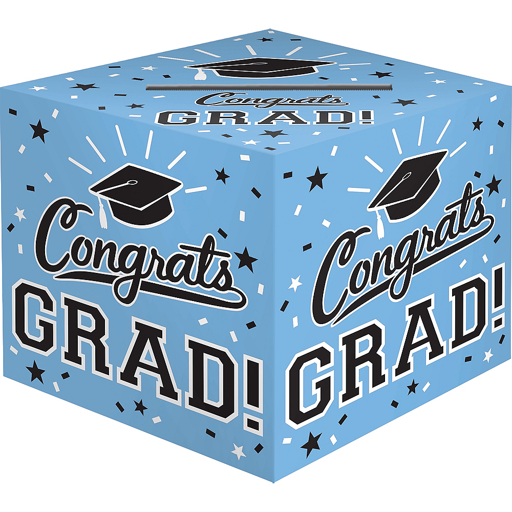 Powder Blue Congrats Grad Card Holder Box Image #1