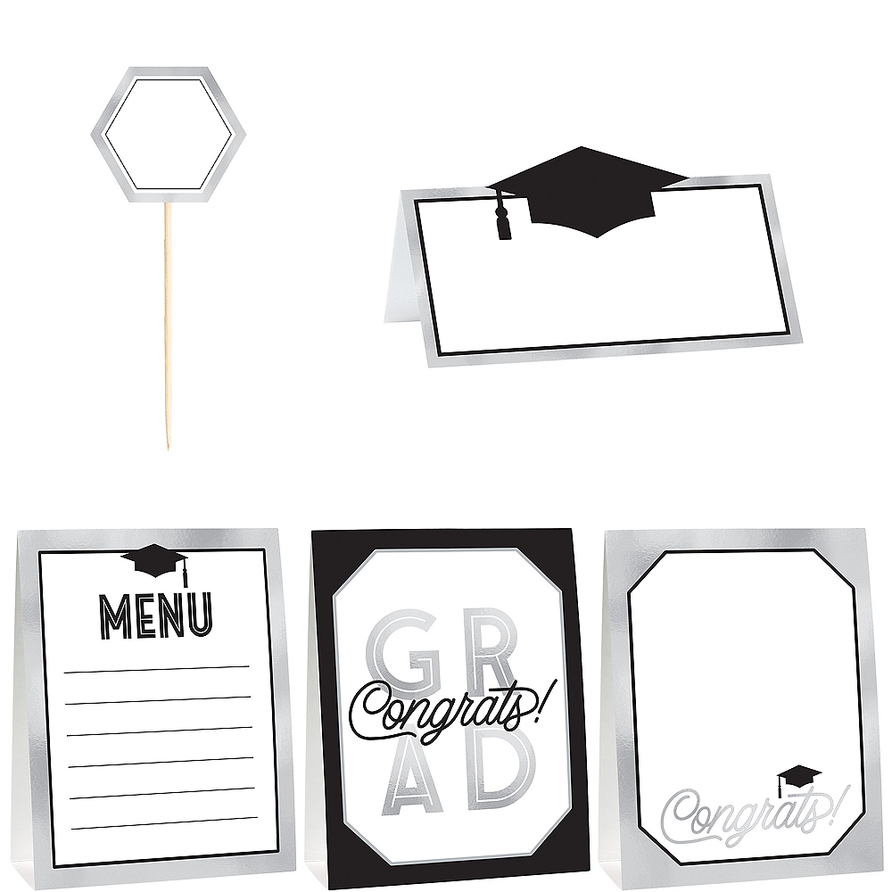 Nav Item for Grid Graduation Buffet Decorating Kit 12pc Image #1