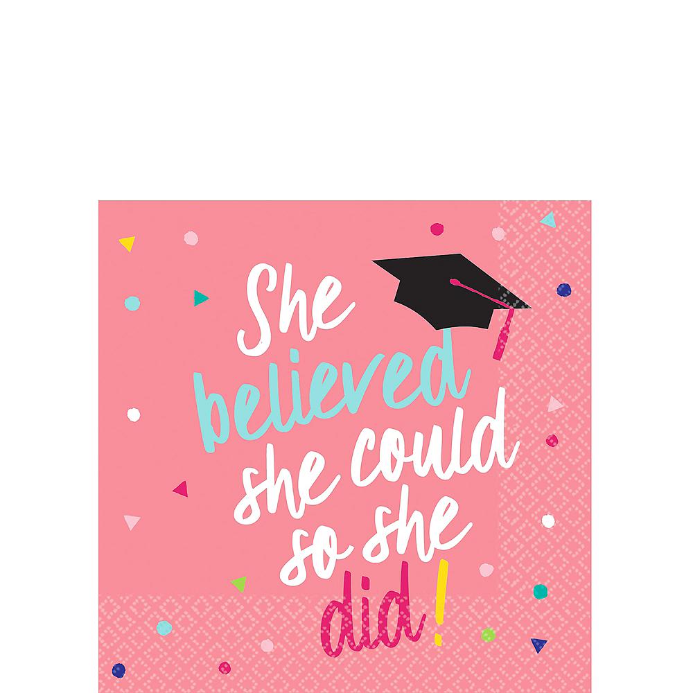 She Believed Graduation Beverage Napkins 36ct Image #1