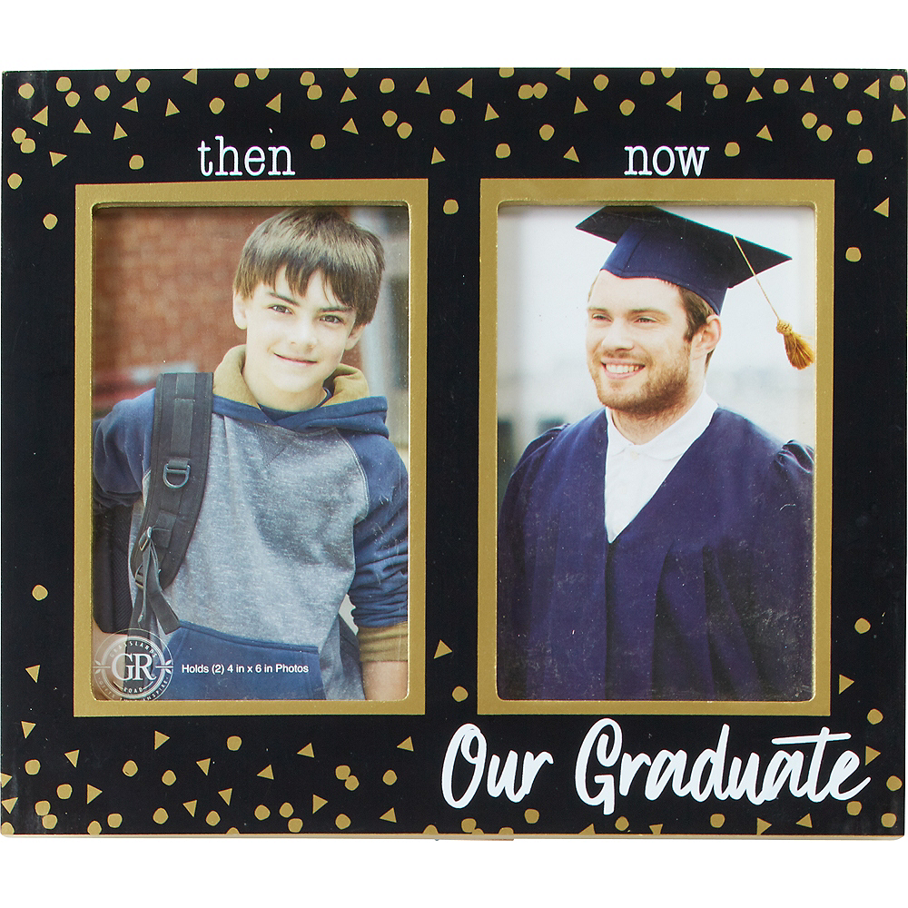 Graduation Frames 2020.Then Now Graduation Photo Frame