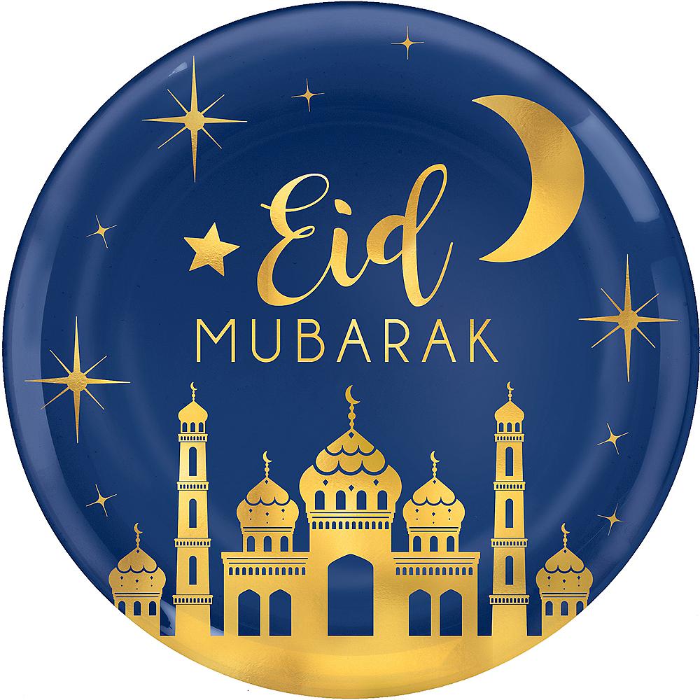 Metallic Gold Eid Mubarak Platter Image #1