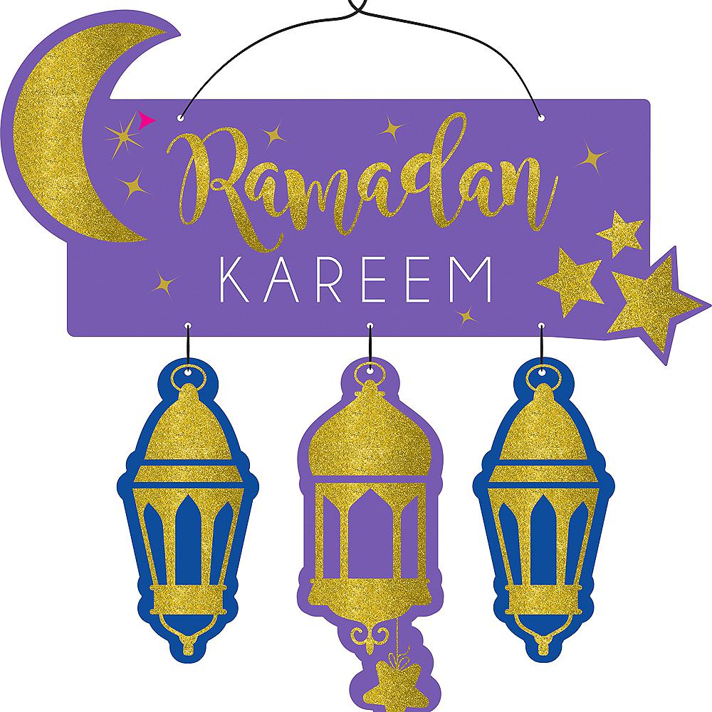 Glitter Ramadan Kareem Stacked Sign Image #1
