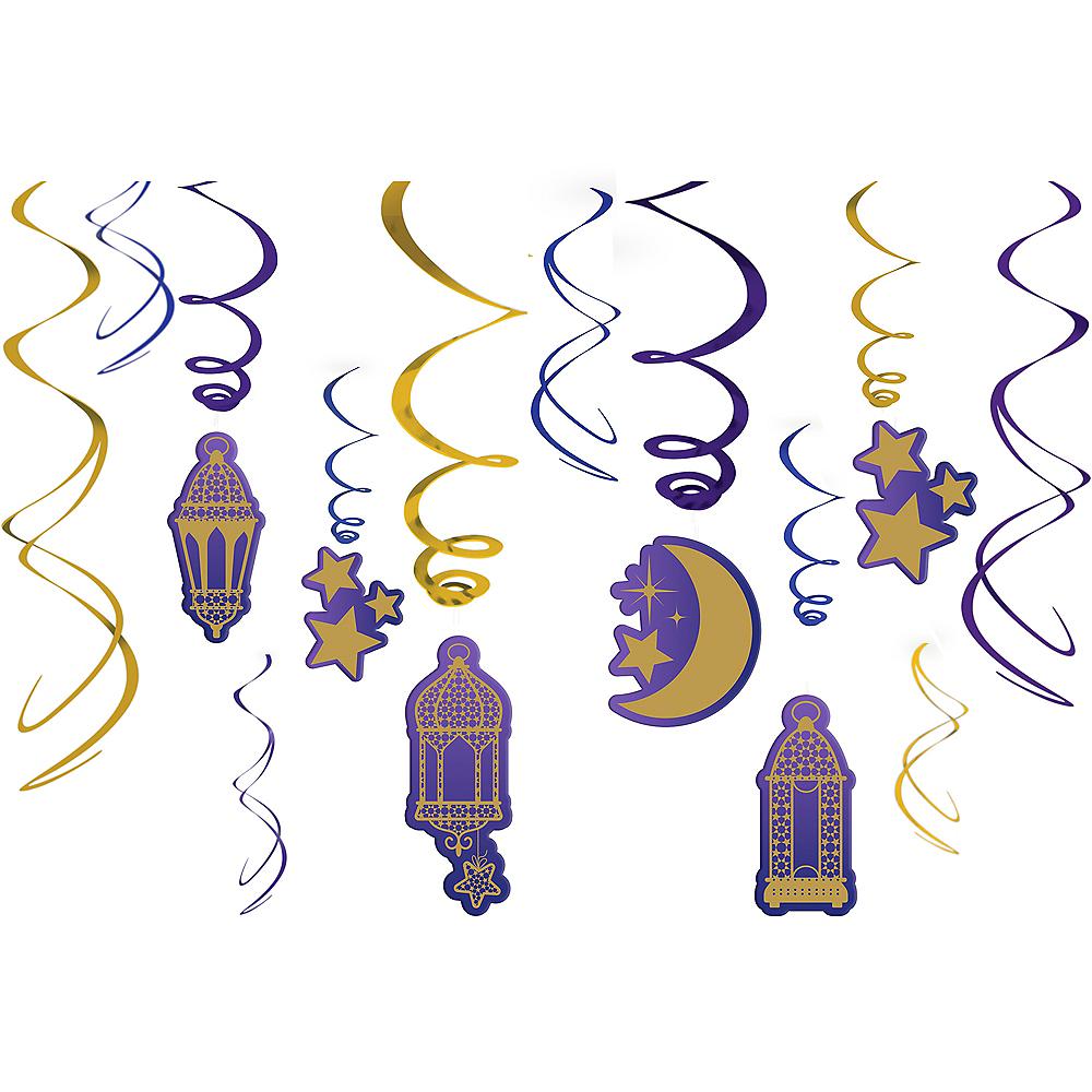 Eid Swirl Decorations 12ct Image #1