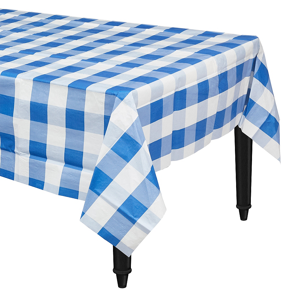 Nav Item for Blue & White Plaid Table Cover Image #1