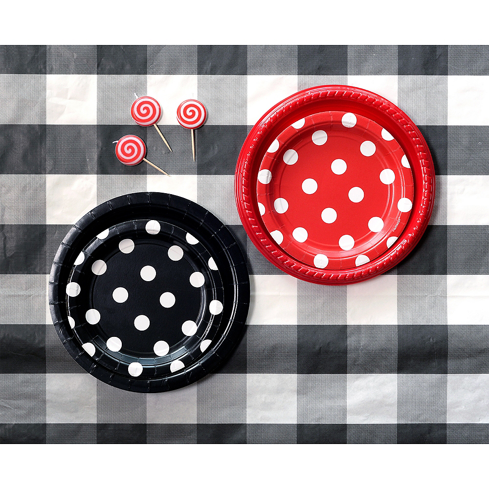 Black & White Plaid Table Cover Image #2