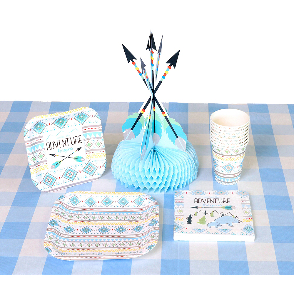 Light Blue & White Plaid Table Cover Image #2