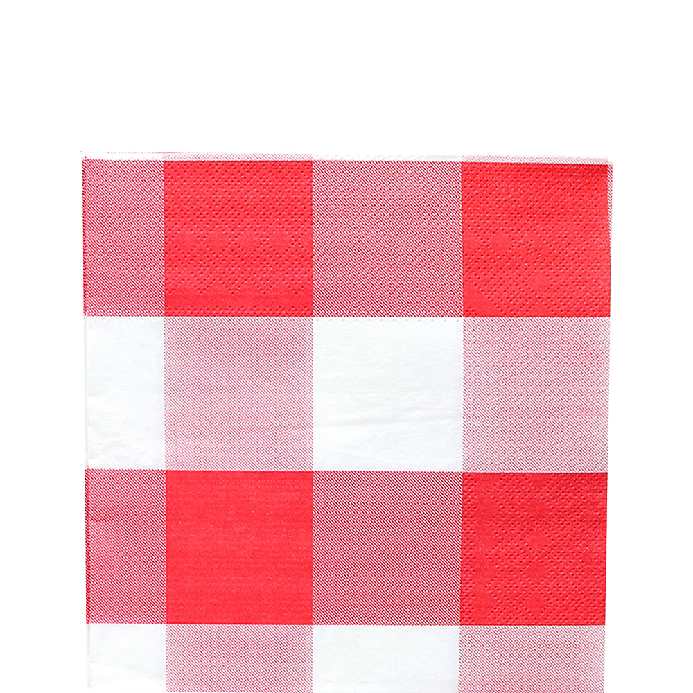 Red & White Plaid Lunch Napkins 16ct Image #1