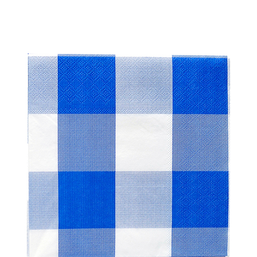 Blue & White Plaid Lunch Napkins 16ct Image #1