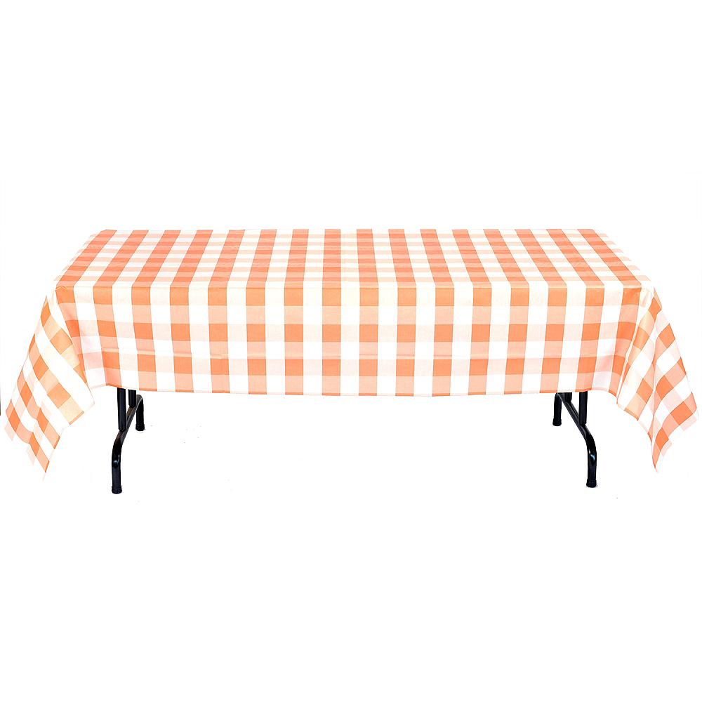Orange & White Plaid Table Cover Image #2