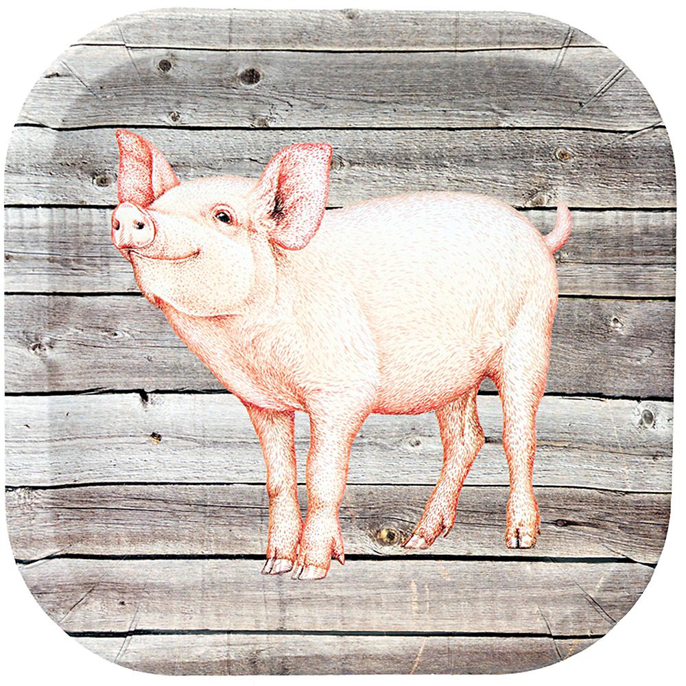 Barnwood Pig Lunch Plates 8ct Image #1
