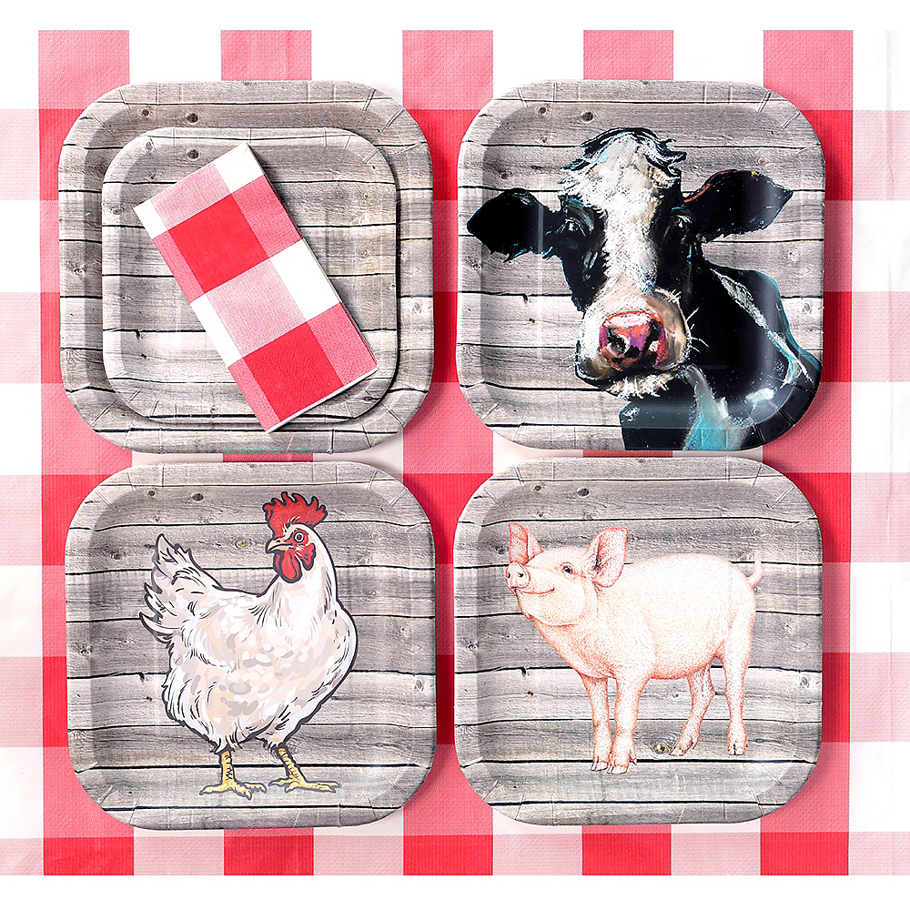 Barnwood Cow Lunch Plates 8ct Image #2