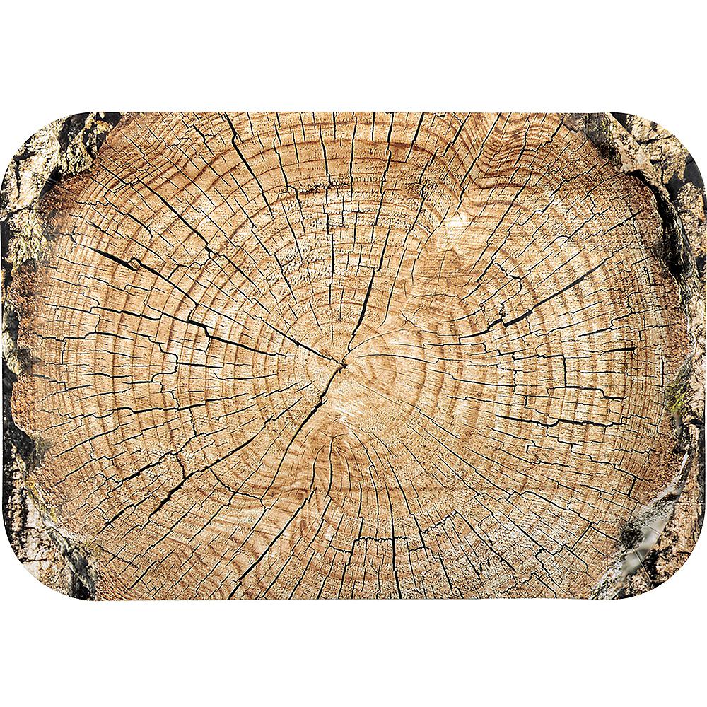 Cut Timber Rectangular Platters 4ct Image #1