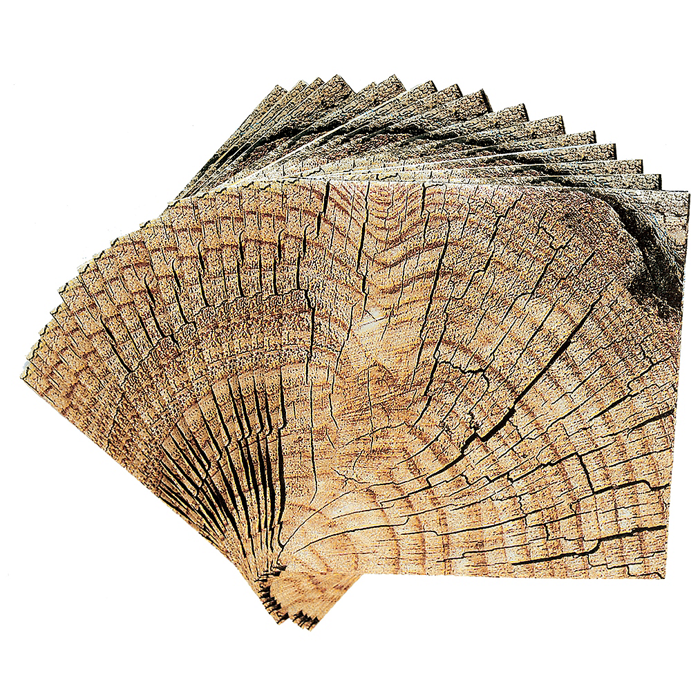Cut Timber Beverage Napkins 16ct Image #2