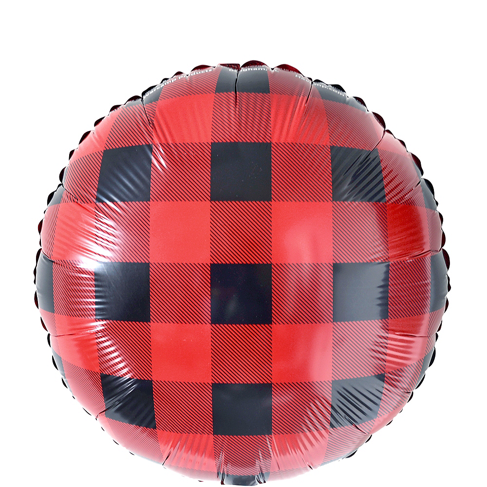 Buffalo Plaid Balloon Image #1