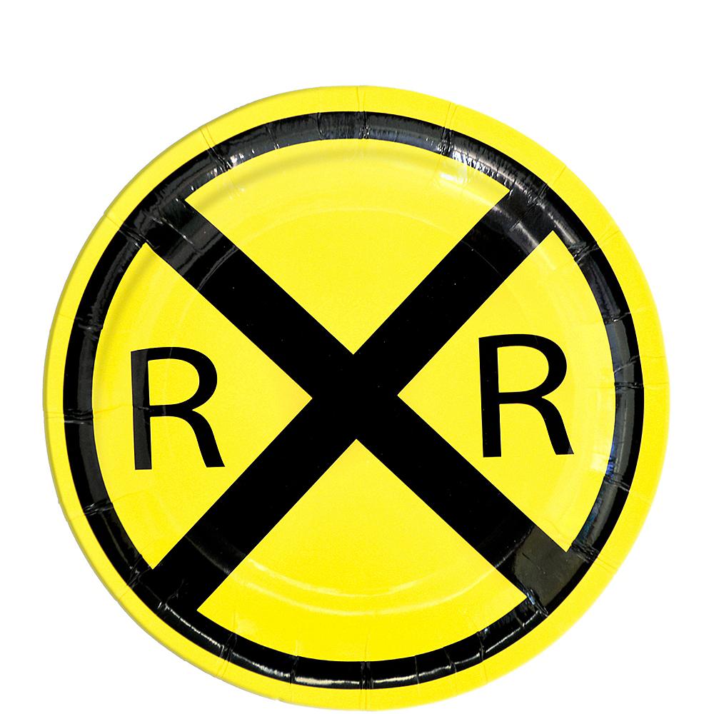 Railroad Dessert Plates 8ct Image #1