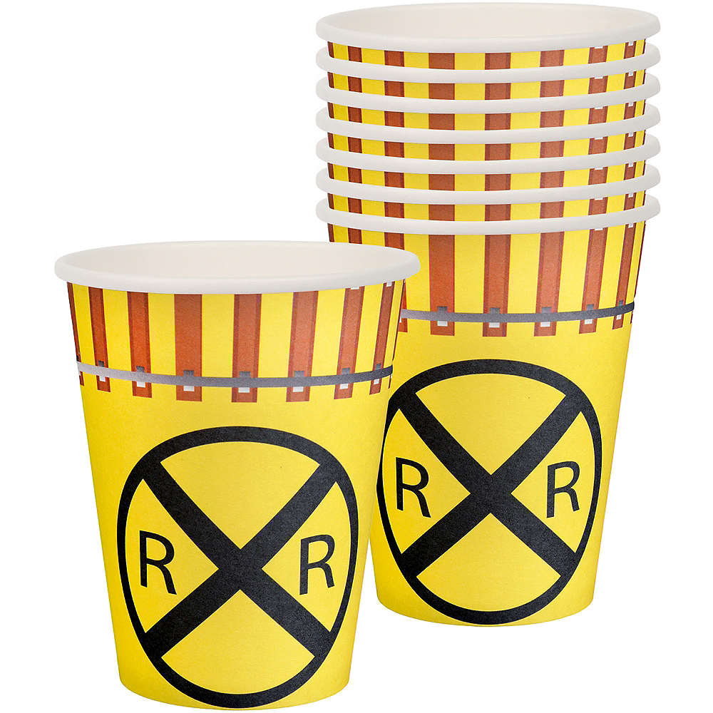Railroad Paper Cups 8ct Image #1