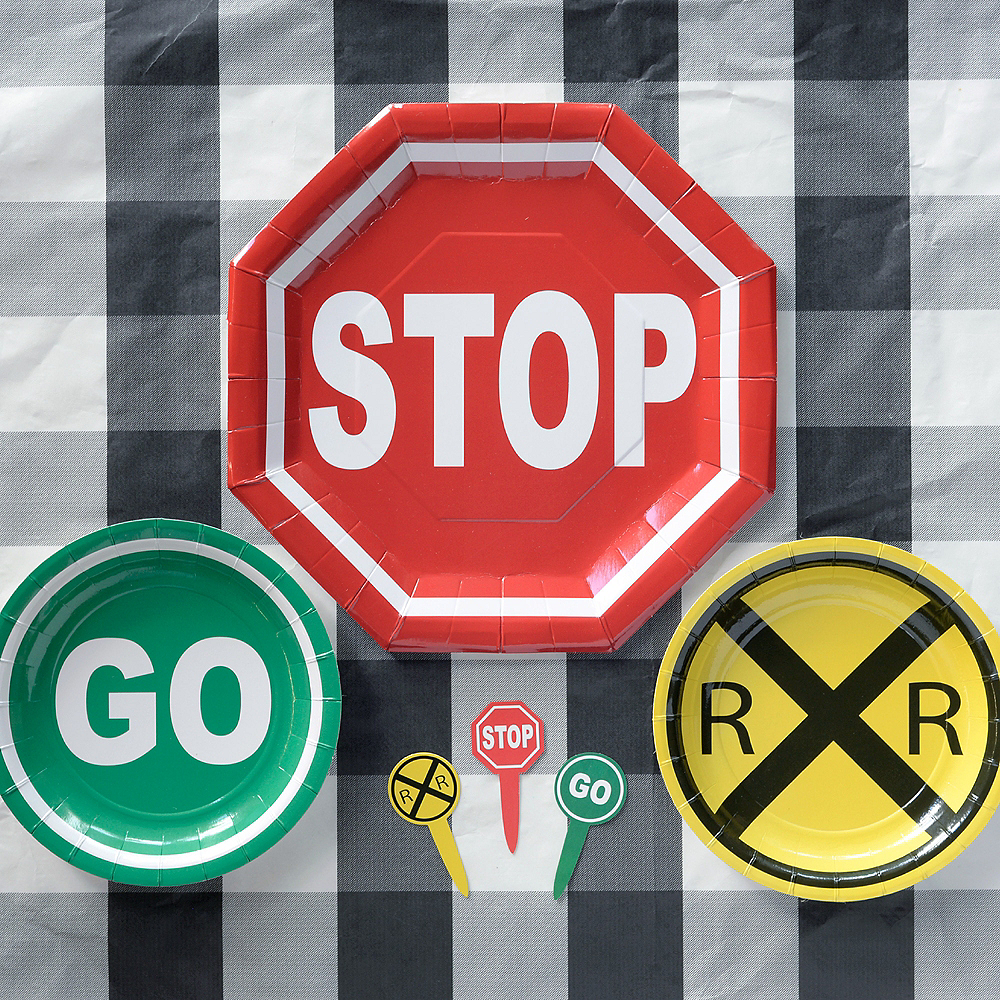 Stop Sign Dinner Plates 8ct Image #2