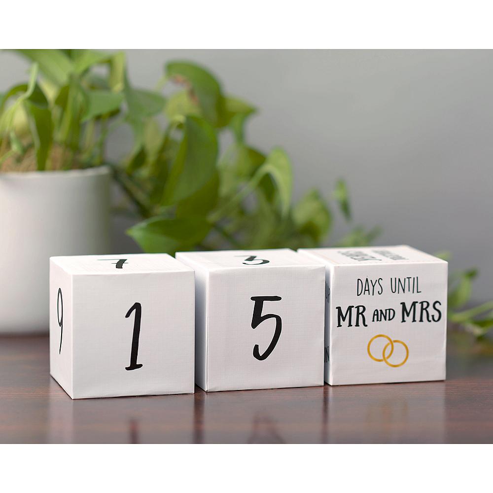 Countdown to Wedding Blocks 3ct Image #1