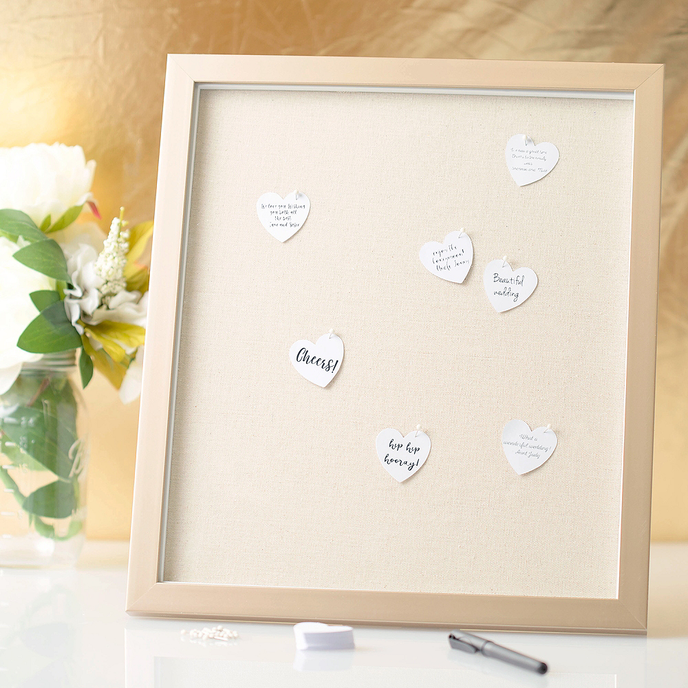 Wedding Guest Book Frame with Hearts 202pc Image #1