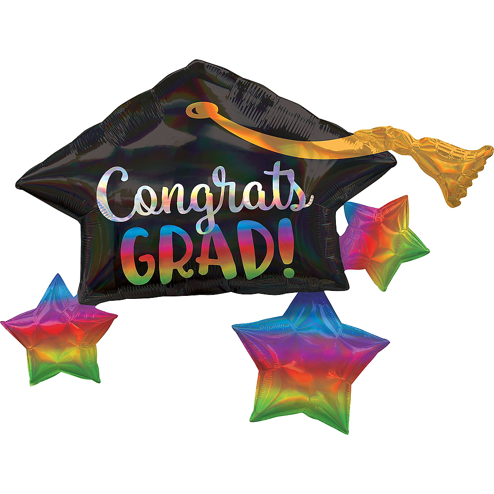 Giant Iridescent Mortarboard Graduation Balloon Image #1