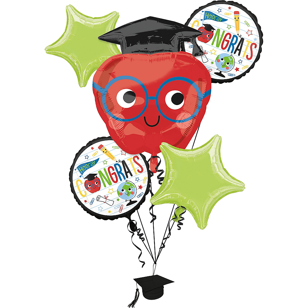 Nav Item for Future Dreamer Graduation Balloon Bouquet 5pc Image #1