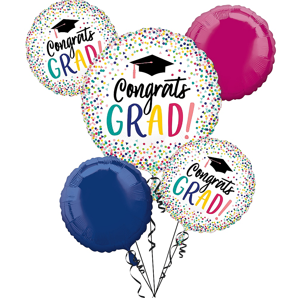 Yay Grad Balloon Bouquet 5pc Image #1