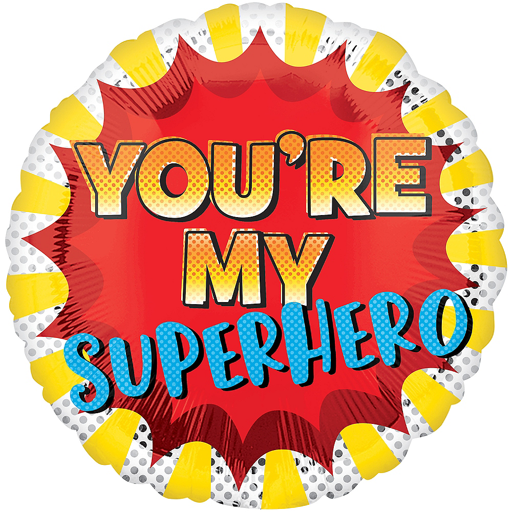 You're My Superhero Father's Day Balloon, 19in Image #1
