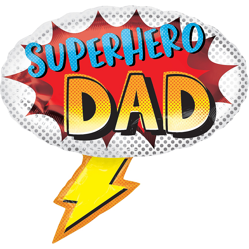 Superhero Dad Father's Day Balloon, 27in Image #1