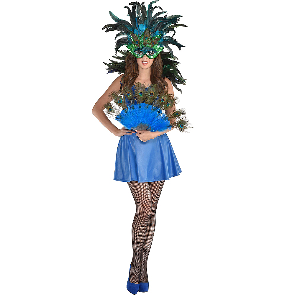 Womens Peacock Costume Accessory Kit Image #1
