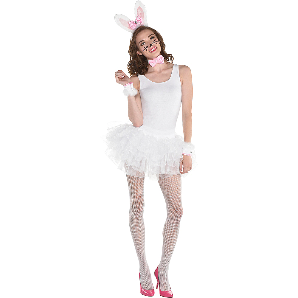 Womens White Bunny Costume Accessory Kit Image #1