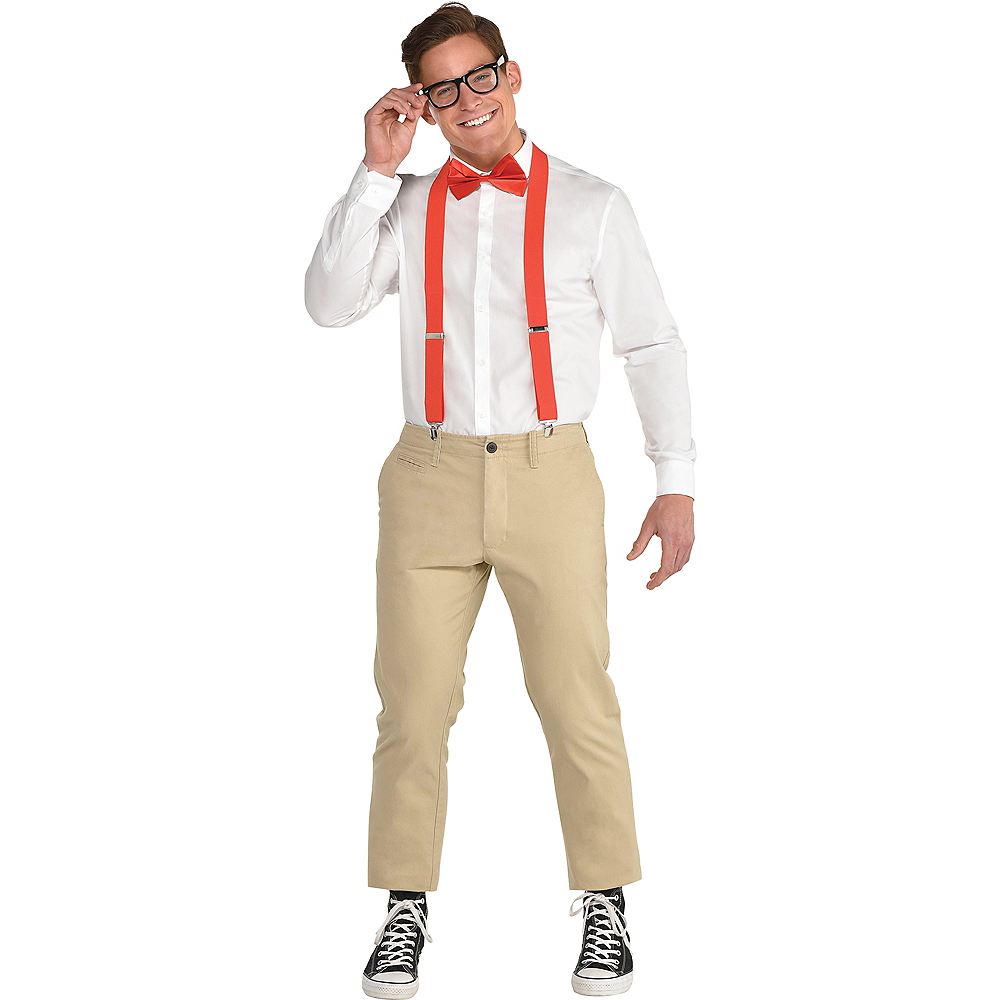 Adult Red Nerd Costume Accessory Kit Image #1