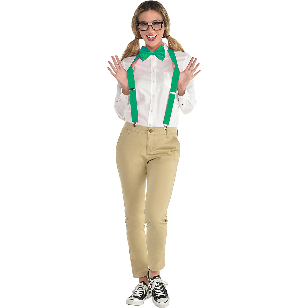 f00688a3b250 Adult Green Nerd Costume Accessory Kit Image  1 ...