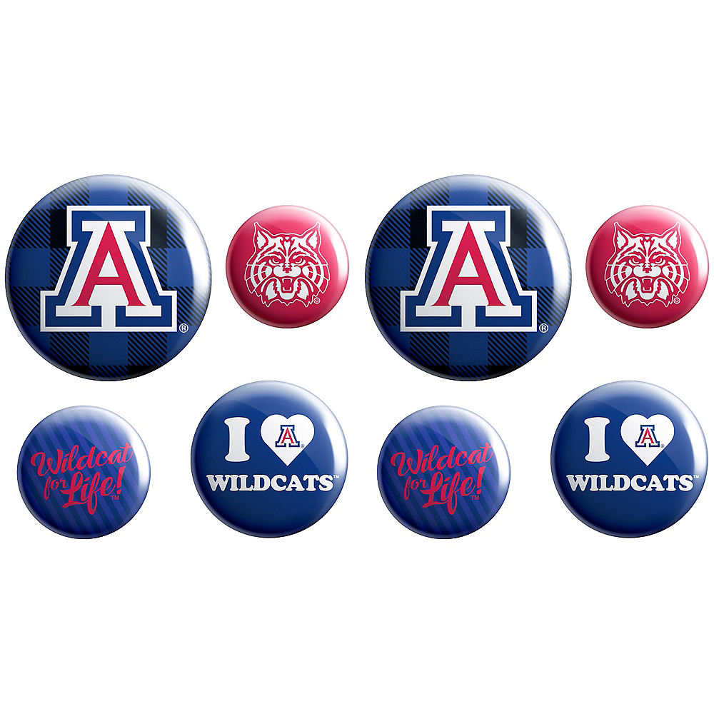 Arizona Wildcats Buttons 8ct Image #1