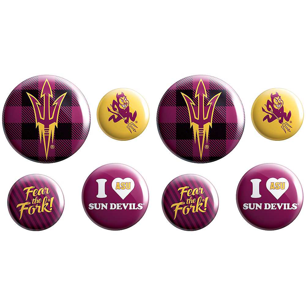 Arizona State Sun Devils Buttons 8ct Image #1