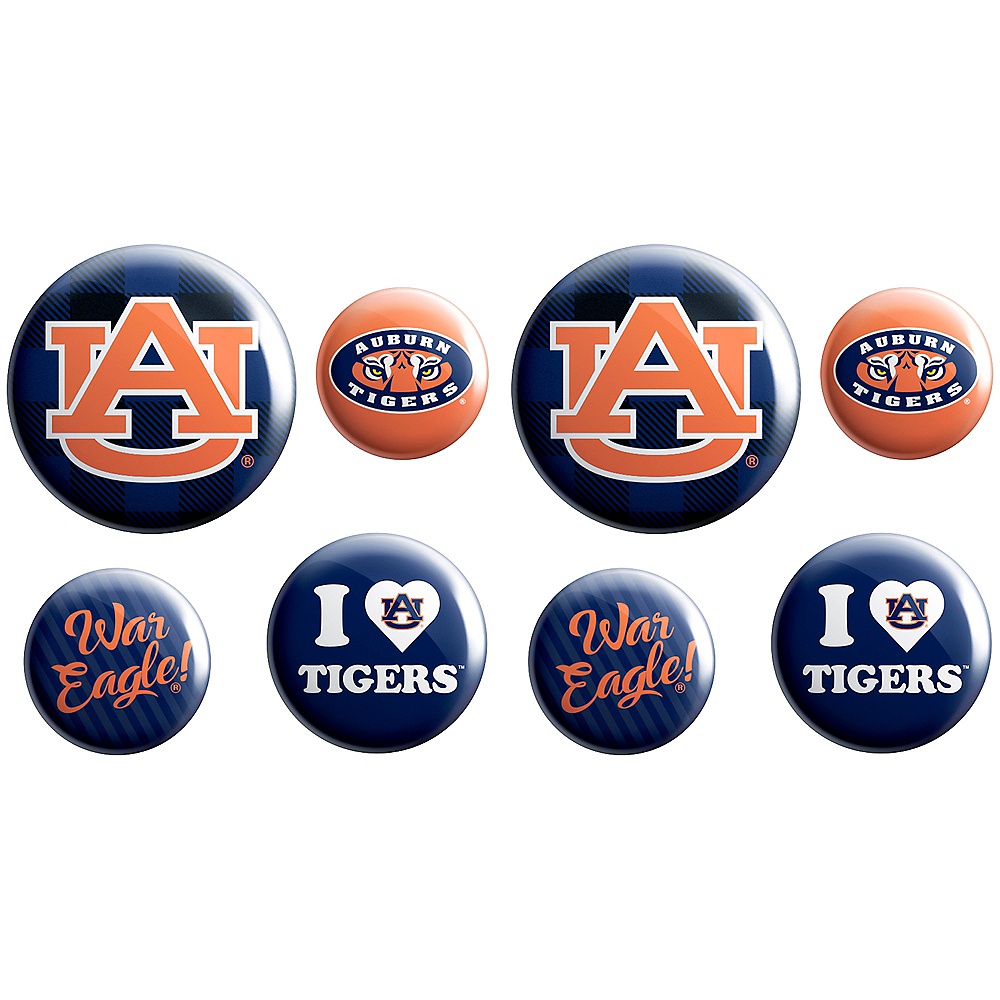Auburn Tigers Buttons 8ct Image #1