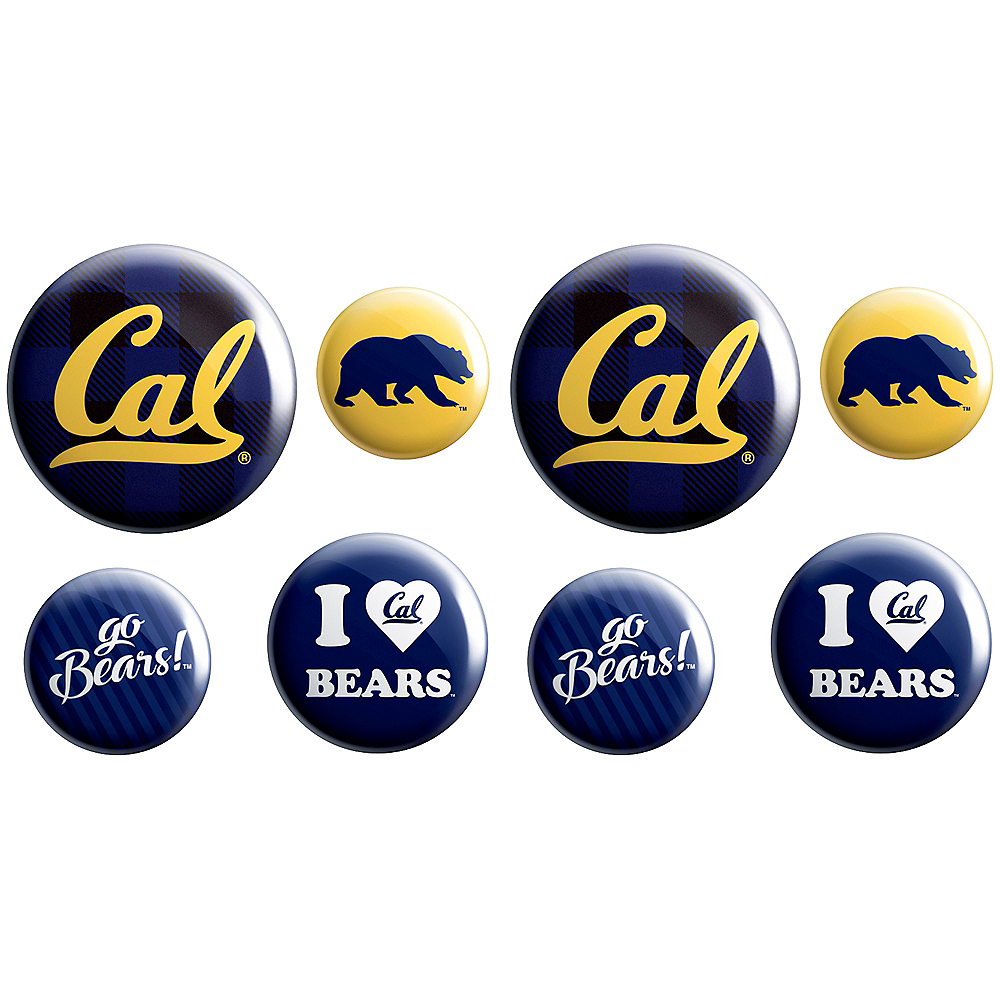 Cal Bears Buttons 8ct Image #1