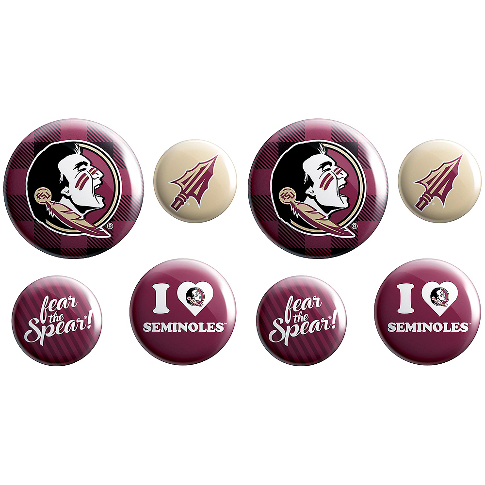 Florida State Seminoles Buttons 8ct Image #1