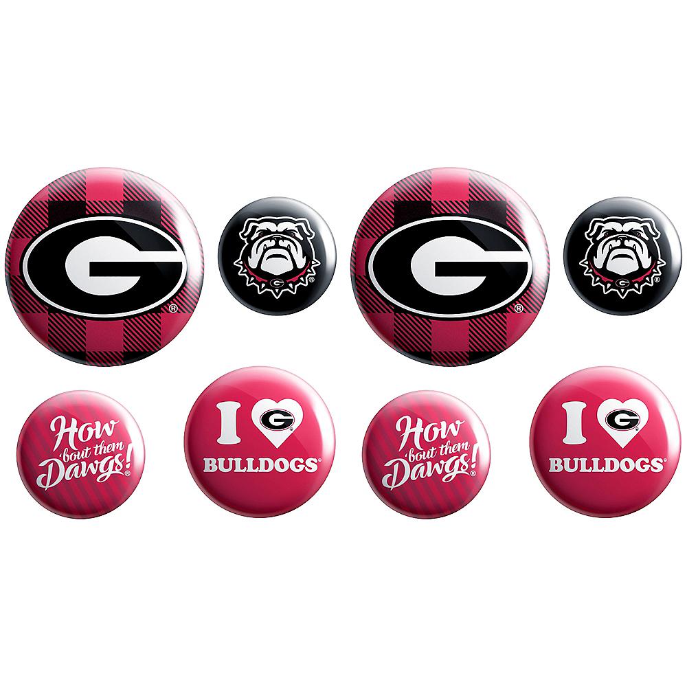 Georgia Bulldogs Buttons 8ct Image #1