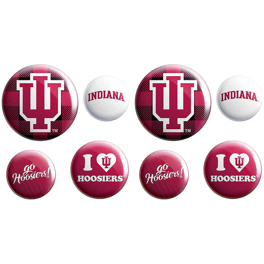 Indiana Hoosiers Buttons 8ct Image #1