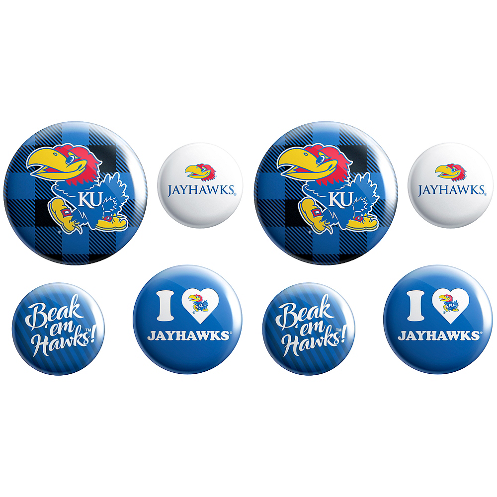 Kansas Jayhawks Buttons 8ct Image #1