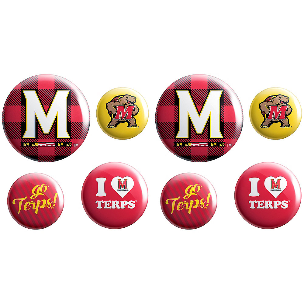 Maryland Terrapins Buttons 8ct Image #1