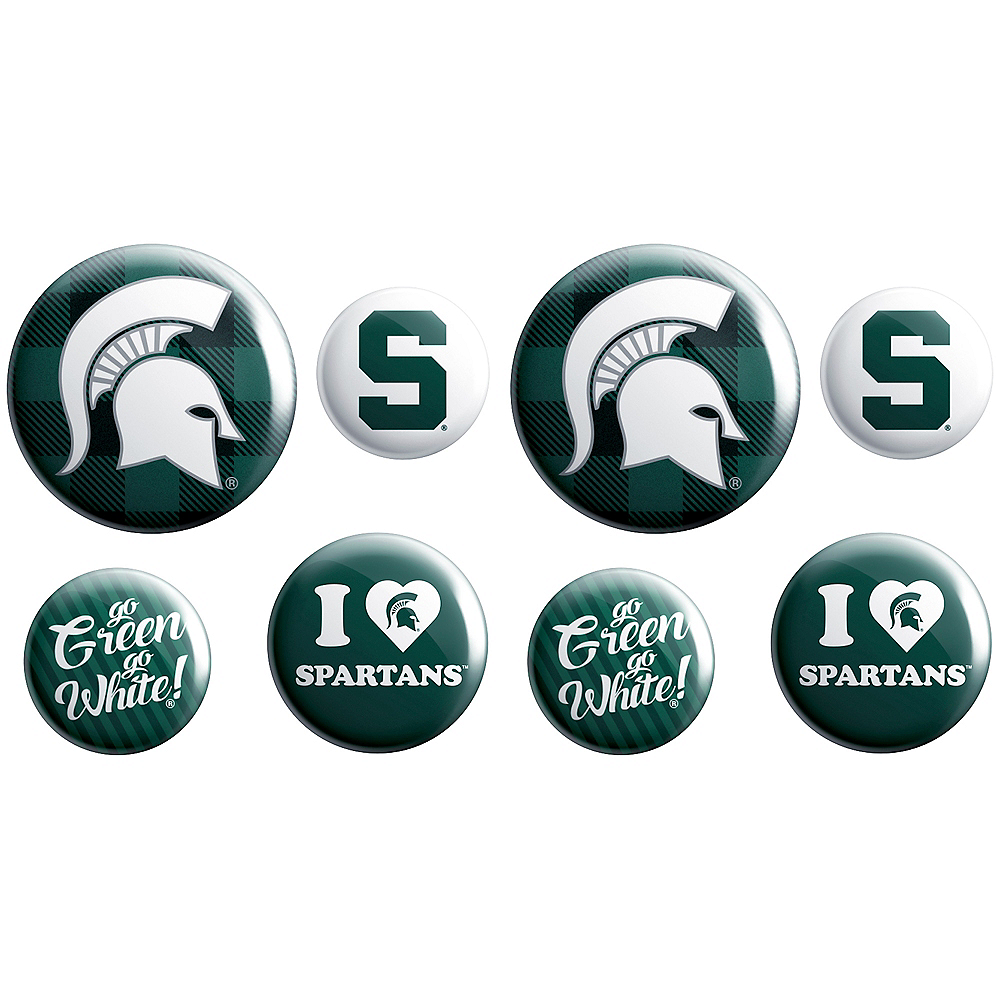 Michigan State Spartans Buttons 8ct Image #1