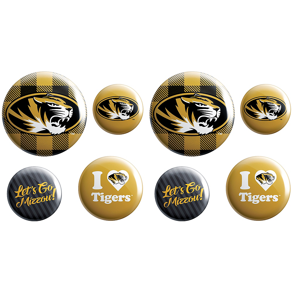 Missouri Tigers Buttons 8ct Image #1