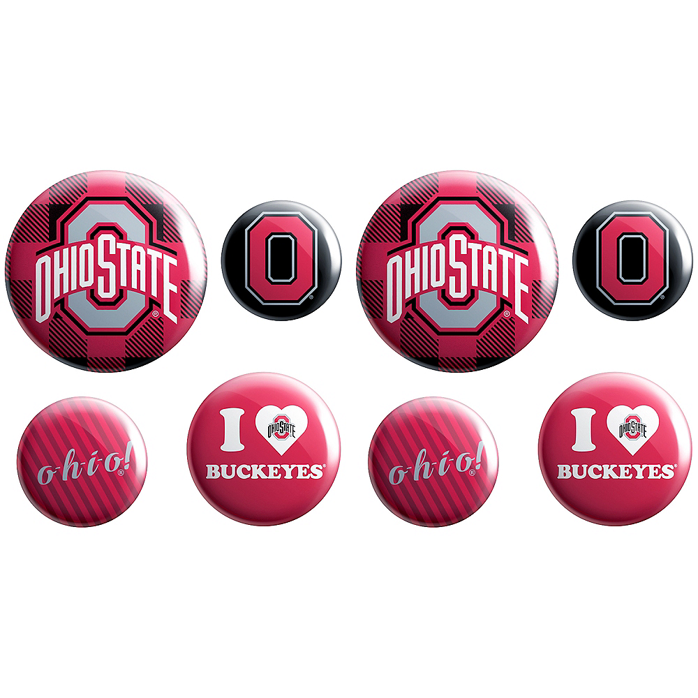 Nav Item for Ohio State Buckeyes Buttons 8ct Image #1